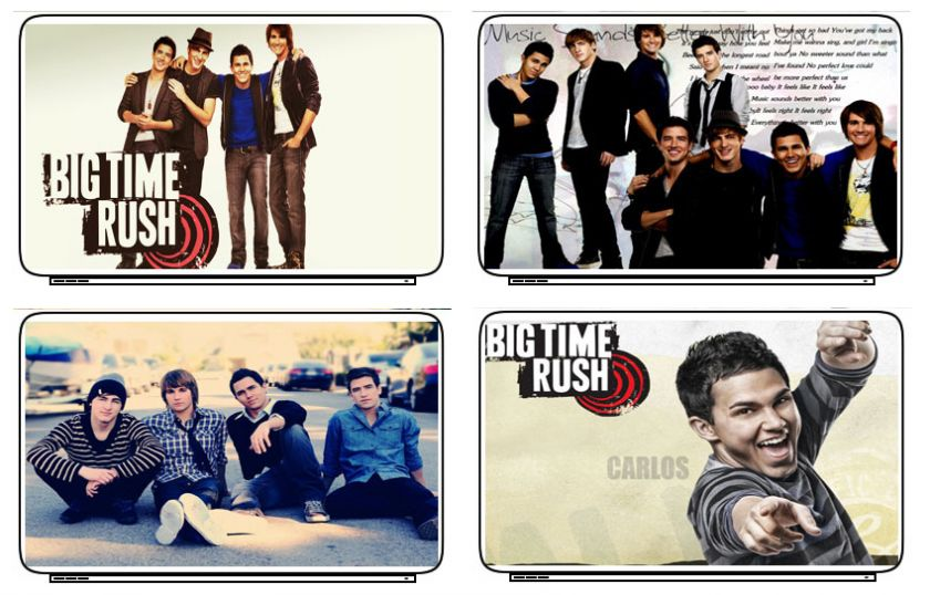 Big Time Rush Singer Actor Laptop Netbook Skin Cover Sticker Decal