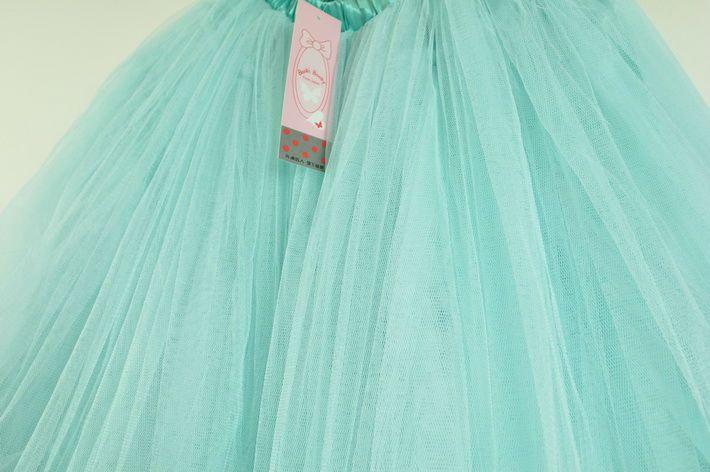 Skirt Dress Super Cute Green Chiffon Puff Tulle Skirt