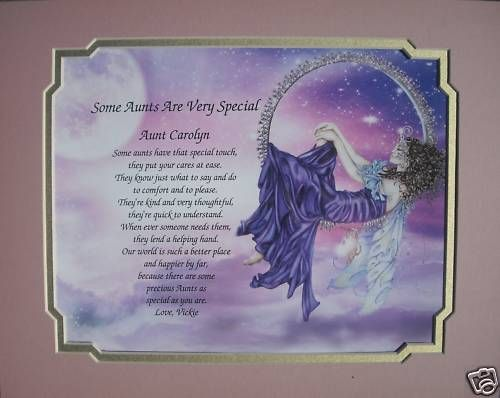 PERSONALIZED POEM FOR AUNT BIRTHDAY OR CHRISTMAS GIFT
