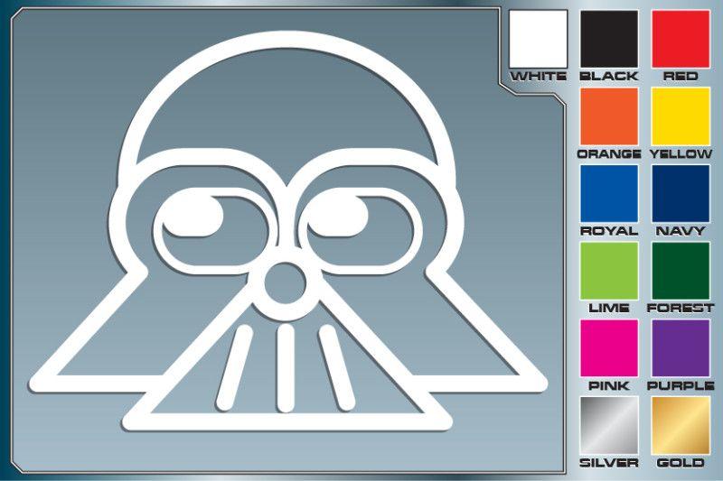 Star Wars DARTH VADER Cartoon cut vinyl car decal #1