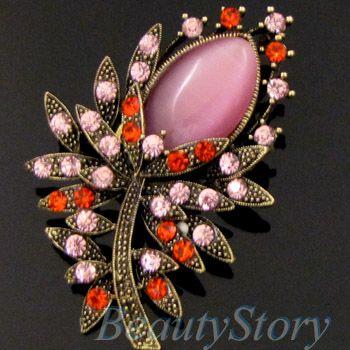 SHIPPING antiqued rhinestone crystal flower brooch pin wedding