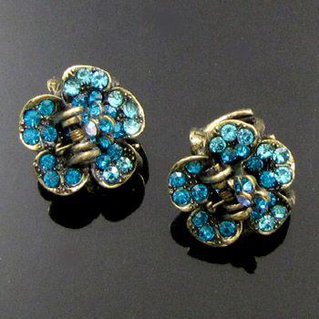 ADDL Item  2p antiqued rhinestone crystal hair claw clip