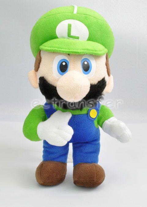 Super Mario Bros LUIGI 12.5 Plush Doll Soft Toy/MT90