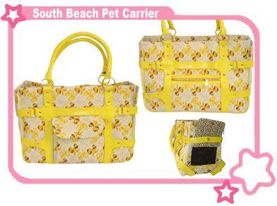 South Beach Chic Designer Pet Dog Cat Carrier Bag