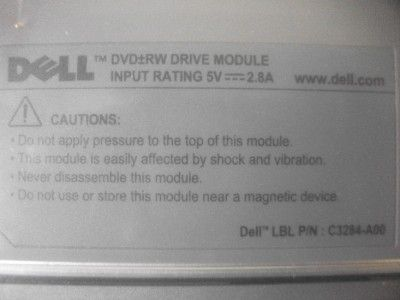You are looking at a C3284 Dell Latitude D Series DVD+/ RW drive