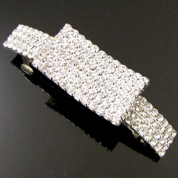 Wholesale 9 pc Rhinestones crystals hair barrette clip