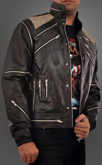 Michael Jackson Beat It Vintage Black Leather Jacket