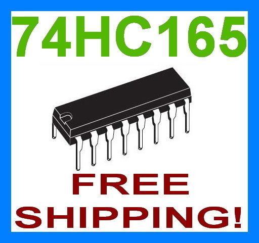 74HC165 74165 IC 8 BIT SHIFT REGISTER   FREE SHIP