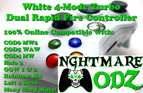 MODE Modded Rapid Fire Xbox 360 Controller COD6 MW2